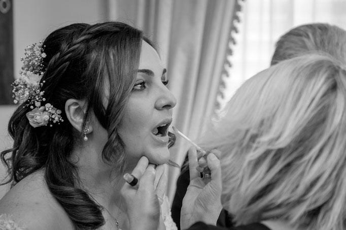 Braut Lippen schminken
