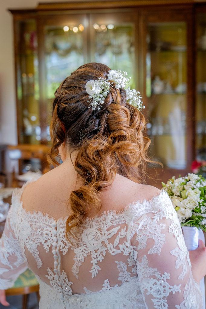 Braut von hinten Haare