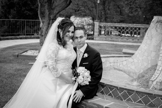 Hochzeitsshooting im Park am Hang des Ätnas