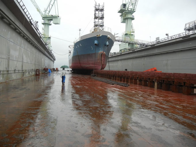 船舶塗装に防錆塗料CCP-117塗布 塩害防止