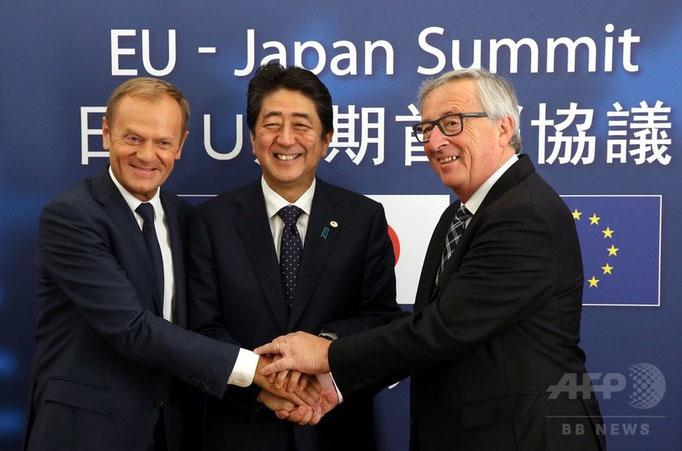 EPA協議大筋合意、安倍首相とEU首脳