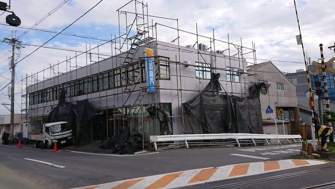 奈良ヰセキ販売本社 足場設置