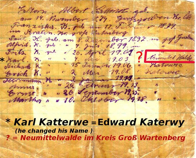 Ca. 1903 von Groß Graben nach Kattowitz umgezogen