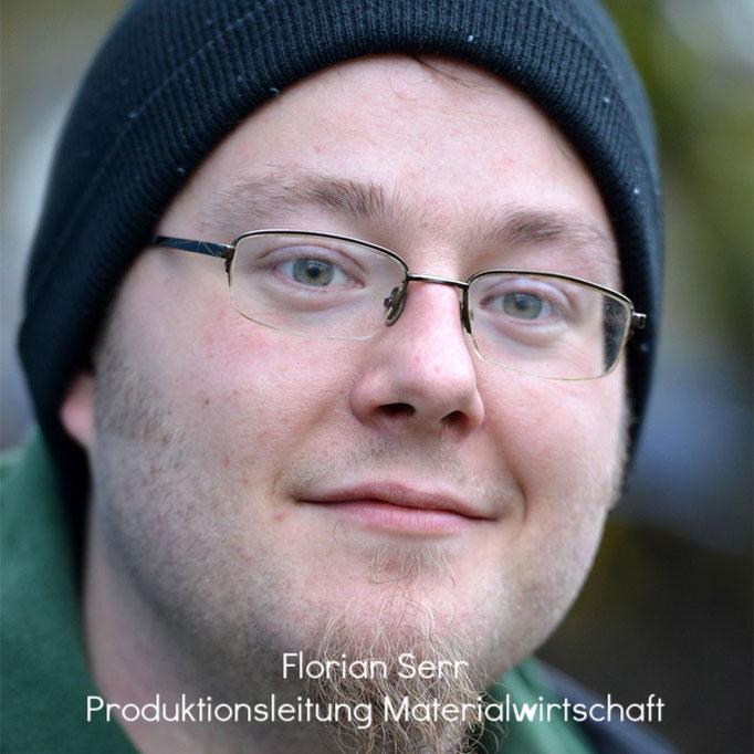 Florian Serr - Produktionsleitung Materialwirtschaft