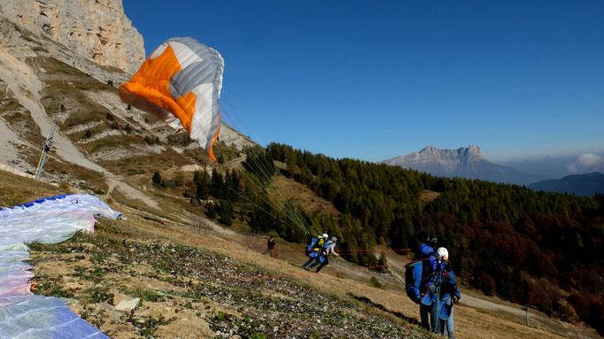 ambiance d'automne sur le domaine skiable de Gresse-en-vercors