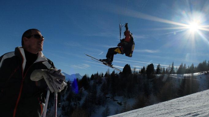 Retour de ski avec un scalp en poche !