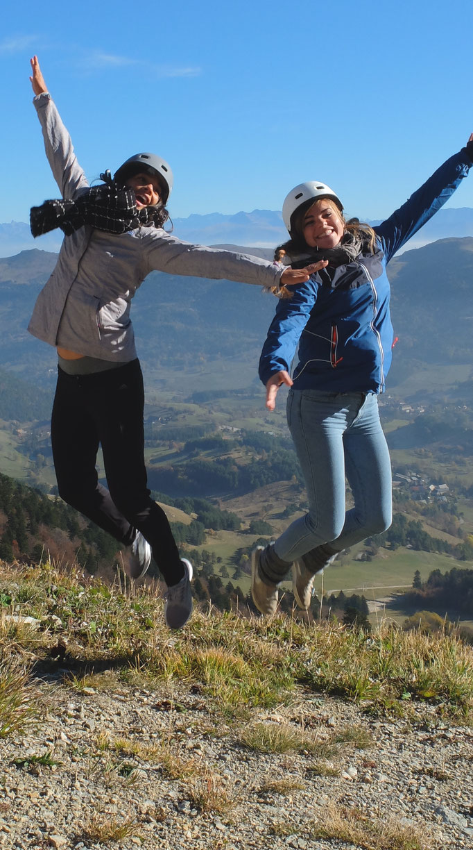 Nadia Richard et Alizé des actrices aériennes