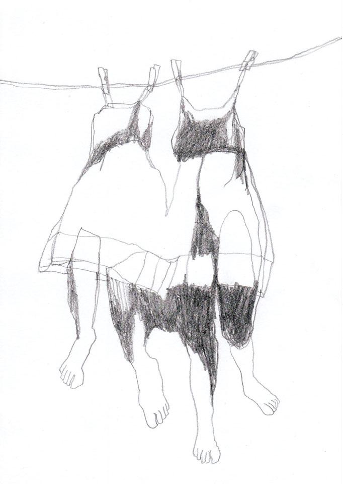 weißer hund / 15 zeichnungen / 21 x 14,8 cm / bleistift auf papier / 2016