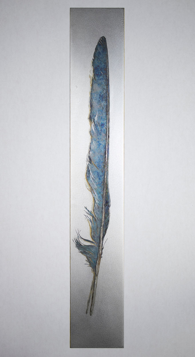 2-斬り捨てた碧い過去 Decapitated Past in Blue H380×W60 mm ¥113,000 - (税抜き)
