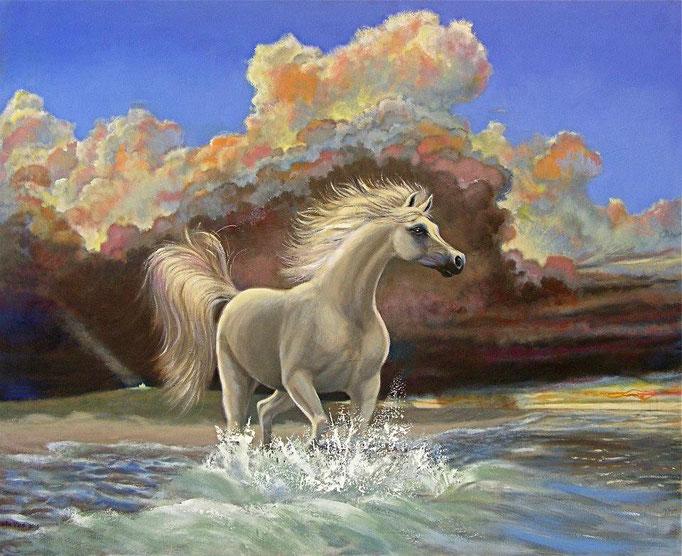 """2013-2 ; White Horse - Oil - 52""""x64"""""""