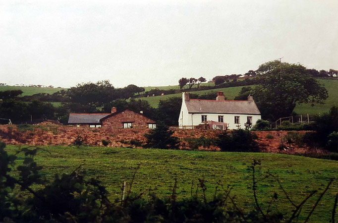 View of the property at East Challacombe, Devon. Courtesy of Anne Ross.