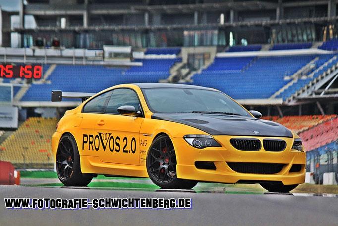 07/14 - Diesen BMW M6 mit 1002 PS konnte ich in Ruhe auf dem Hockenheimring ablichten.