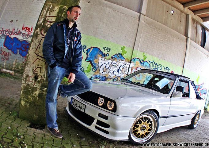 10/ 2013 ein Fotoshooting mit einem BMW e30 TC-Baur in Aachen