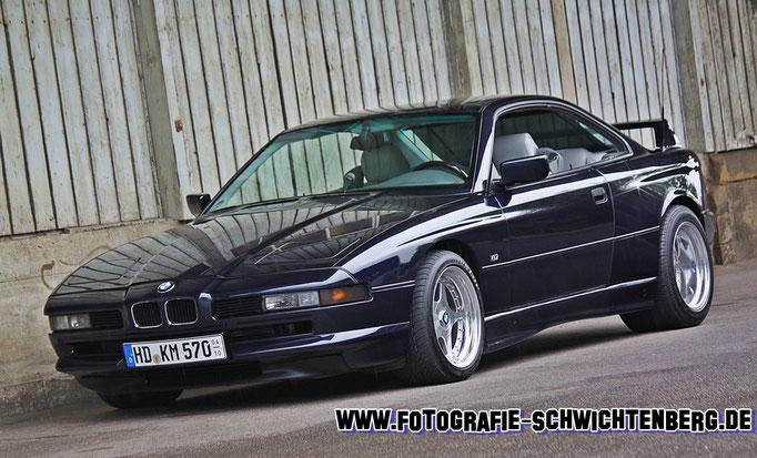 25 Jahre 8er (E31) - abgelichtet wurde dieses BMW-Pressefahrzeug im 07/14