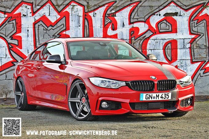 01/2014 Fotoshooting des neuen 4er BMW 435i der Firma mb-design in Offenbach.