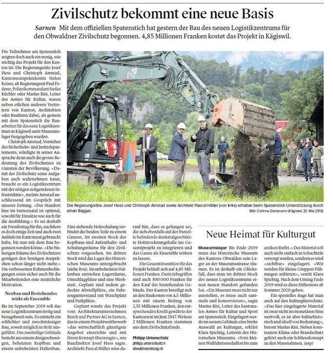Obwaldner Zeitung vom 24.05.18