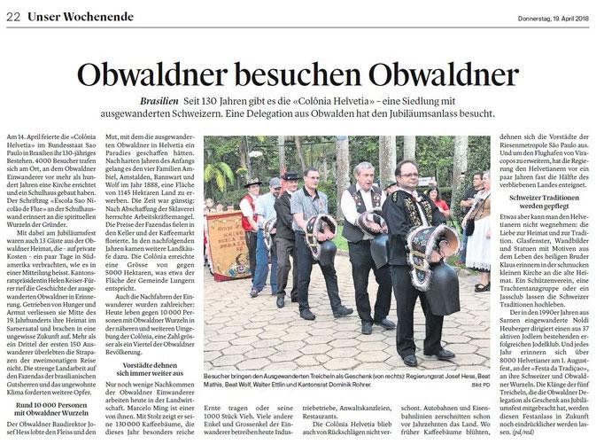 Obwaldner Zeitung vom 19.04.18