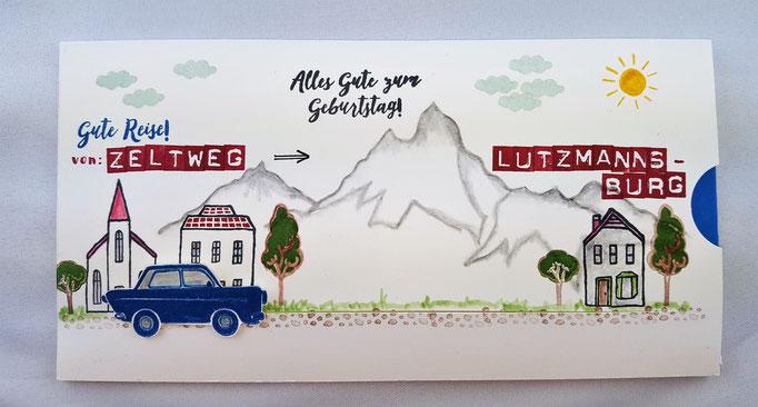 Die Berge in Österreich durften nicht fehlen.