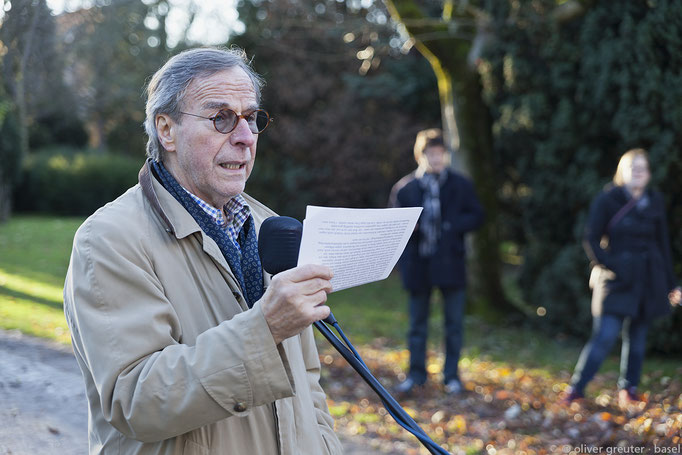 Lesung Klaus Merz (Foto: Oliver Greuter)