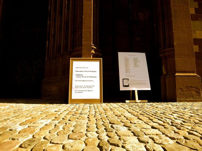 Ankündigung der Lesung im Georgsturmzimmer von Sandra Löwe: Heidegger über Hölderlin