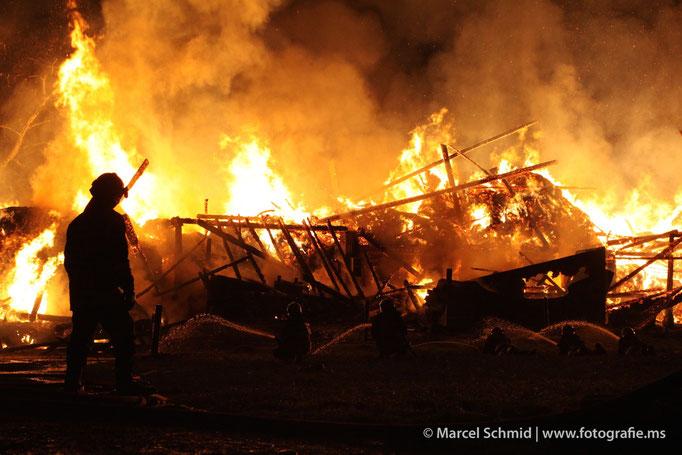 Scheunenbrand in Luzern
