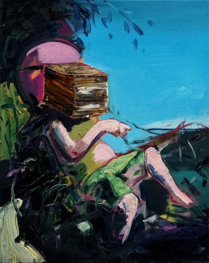 Philipp Kummer   peace is easy   2020   oil on canvas    50x40 cm