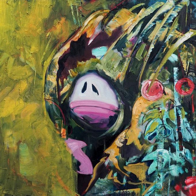 Philipp Kummer   we are already here   2020   oil on canvas    80x80 cm