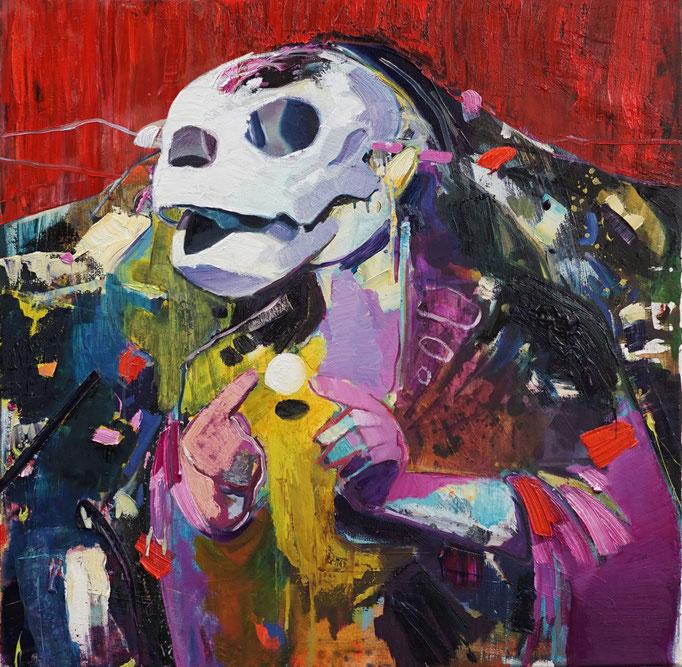 Philipp Kummer   immer am Anfang   2020   oil on canvas    80x80 cm