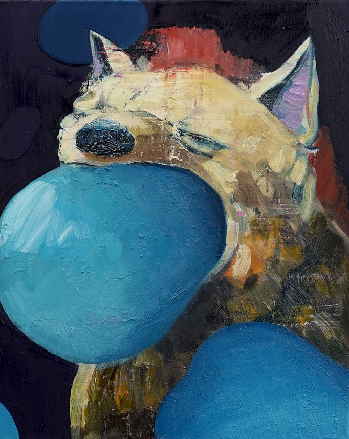 Philipp Kummer   kill the head   2020   oil on canvas    50x40 cm