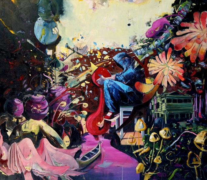 Philipp Kummer | jede Geschichte ist wahr | 2020 | oil on canvas  | 200x230 cm