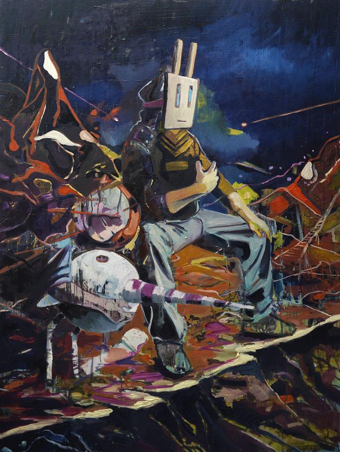 Philipp Kummer   rabbithole   Öl auf Leinwand   2021   160x120cm