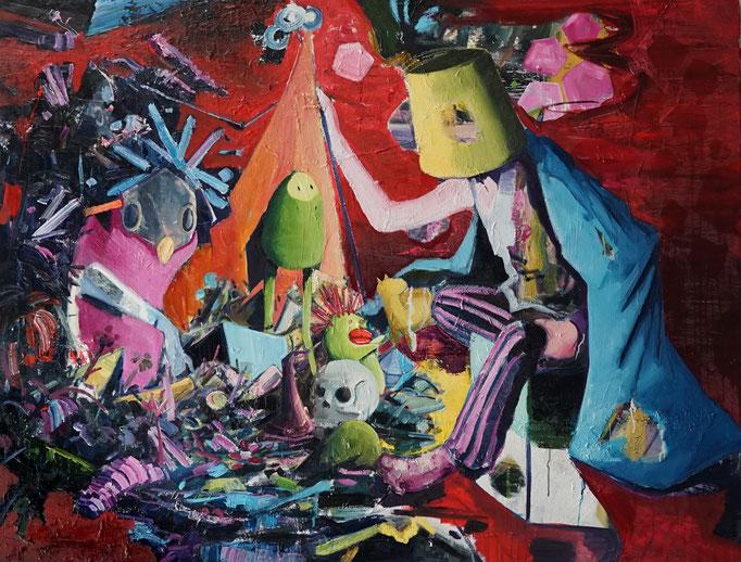 Philipp Kummer   only silence remains   2020   oil on canvas    160x120 cm