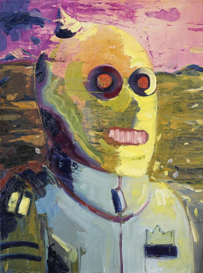 Philipp Kummer   der Wanderer   Öl auf Leinwand   2021   80x60cm