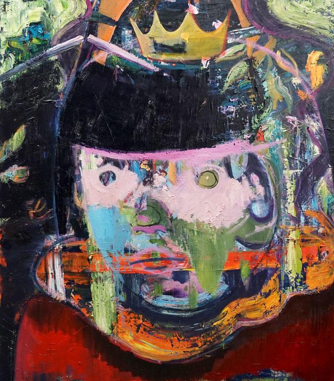 Philipp Kummer   die da unten machen ja doch nur was sie wollen   2020   oil on canvas    170x150 cm