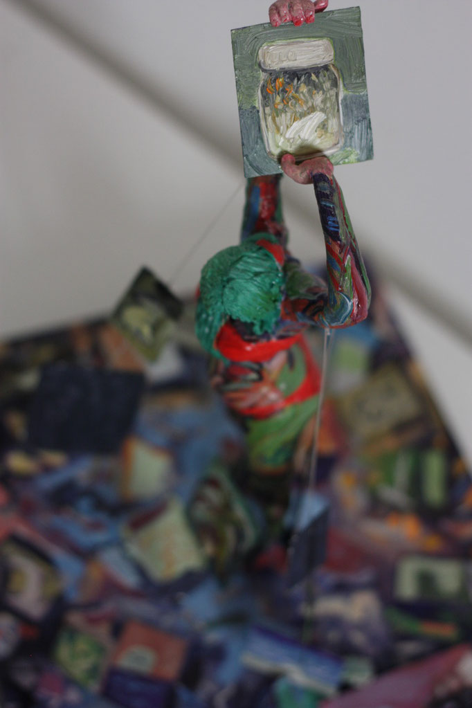 Philipp Kummer | pile | 2015 | diverse Materialien | ca. 25 x 25 x 32 cm