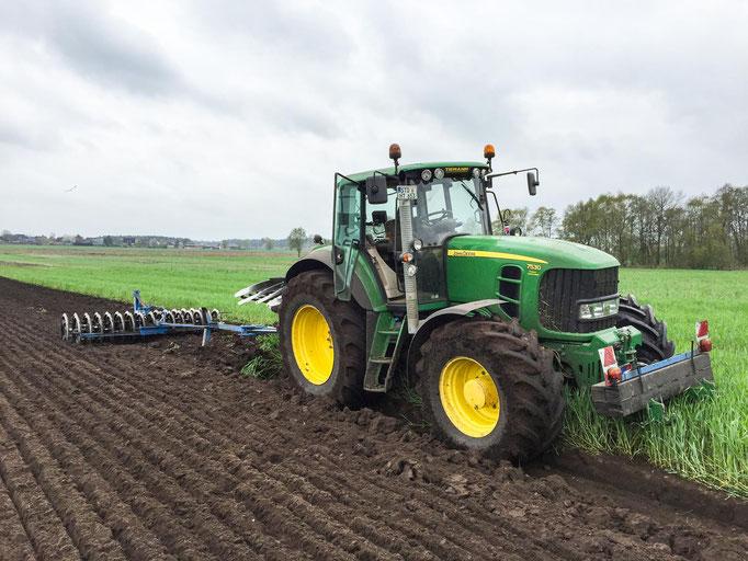 Bodenbearbeitung pflügen