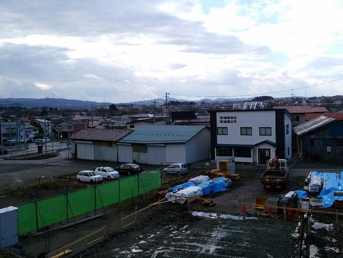 嶋勘商店、嶋製材所、当社敷地からの眺望
