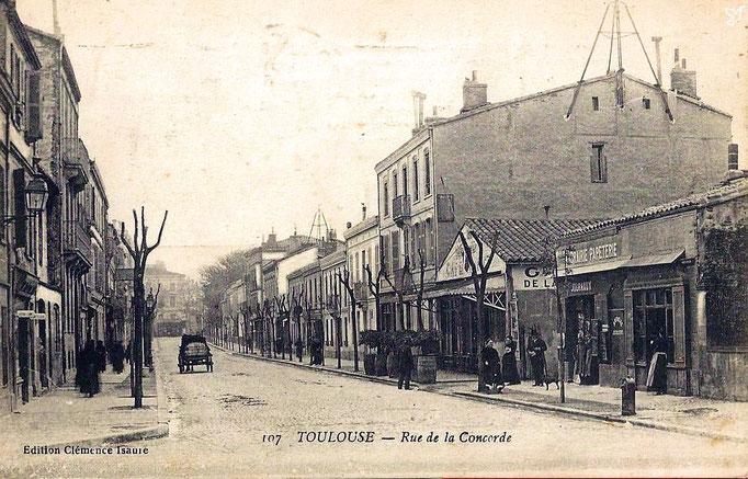 La rue de la Concorde vue depuis la statue