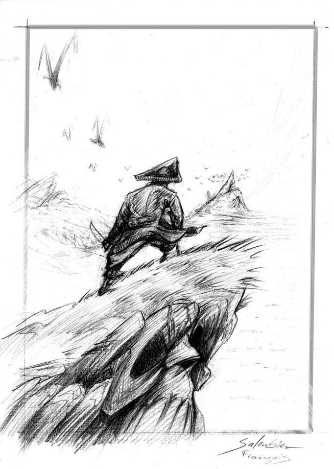 illustration-salembier-francois-illustrateur-illus-illustrator-draw-dessins-pirate-ile-îlle-île-trésor-tete-tête-mort-rocher-oiseaux-sabre-tricorne