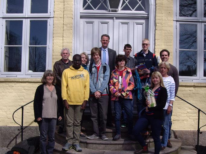 Besuch des Landrates Schröder