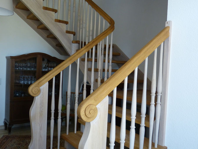 Treppe zu den Ferienwohnungen im Obergeschoss