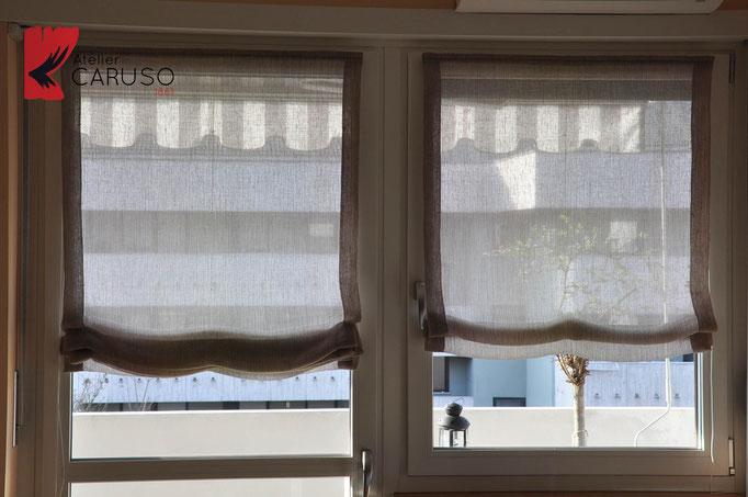Tende a pacchetto atelier tessuti arredamento tende for Arredamento tende per interni