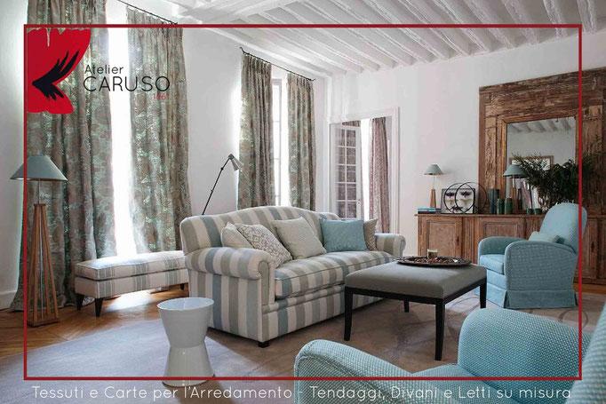 Tende classiche contemporanee atelier tessuti for Divani per casa al mare