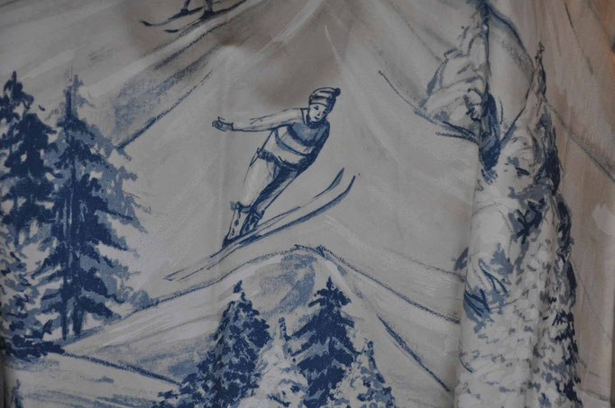 tessuti stampati per interni di montagna