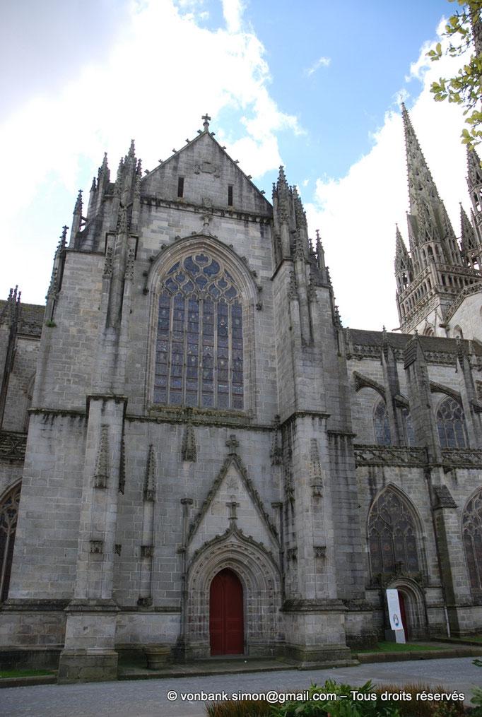 [NU002k-2016-0007] 29 - Quimper - Cathédrale Saint-Corentin : Portail de Notre-Dame de la Chandeleur (Façade du transept Nord)