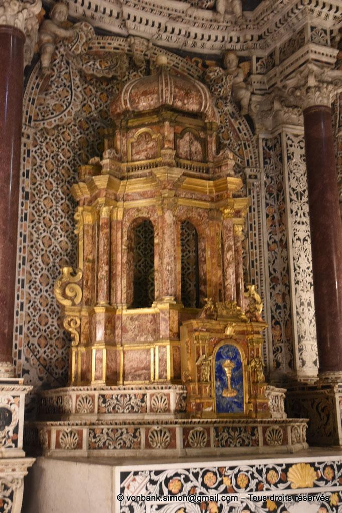 [NU906-2019-1724] Santa Maria Nuova (Monreale) : Tabernacle de l'autel de l'absidiole gauche