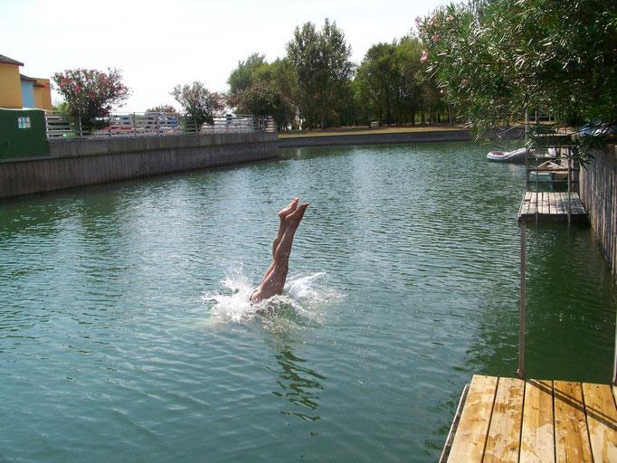 Fjord, ideal zum Schwimmen, Tretbootfahren etc,