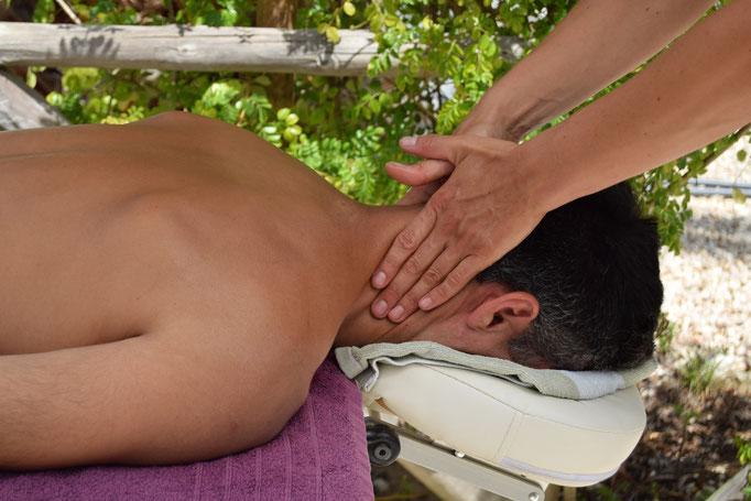 Enjoying a relaxing massage at Onda Vicentina Algarve Portugal
