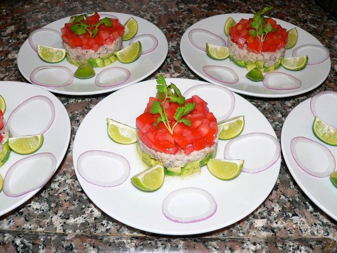 Tartare de poisson, Chef à domicile, chef à la maison, chef à domicile Grasse, Cours de cuisine à domicile, cours de cuisine Grasse, Chef Tristan Pontoizeau