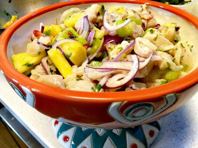 Ceviche à l'ananas, Chef à domicile, chef à la maison, chef à domicile Grasse, Cours de cuisine à domicile, cours de cuisine Grasse, Chef Tristan Pontoizeau